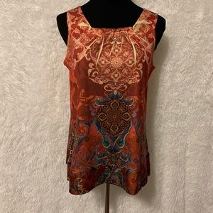 One World Square Neck Boho Tank Top